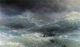 The Wave, the Billow, 1889 by Aivazovsky | Painting Reproduction