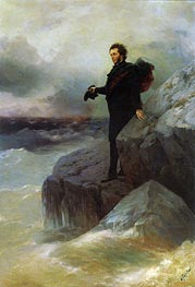 Pushkin bids Farewell to the Black Sea, 1887 by Aivazovsky | Painting Reproduction