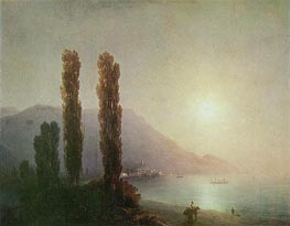 Sunrise in Yalta, 1878 by Aivazovsky | Painting Reproduction