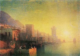 On the Island of Rhodes, 1861 by Aivazovsky | Painting Reproduction