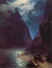Daryal Gorge, 1862 by Aivazovsky | Painting Reproduction