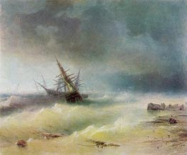 The Storm, 1872 by Aivazovsky | Painting Reproduction