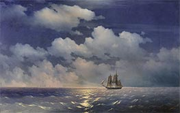 The Brig Mercury Returns to Russian Squadron | Aivazovsky | outdated