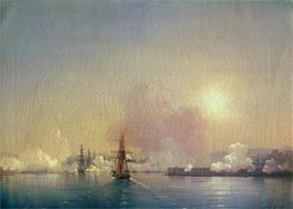 Arrival into Sevastopol Bay, 1852 by Aivazovsky | Painting Reproduction