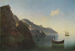 The Coast near Amalfi, 1841 by Aivazovsky | Painting Reproduction