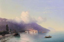 View of Yalta, 1867 by Aivazovsky | Painting Reproduction