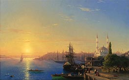 View of Constantinople and the Bosphorus, 1856 by Aivazovsky | Painting Reproduction