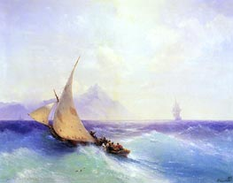 Rescue at Sea, 1872 by Aivazovsky | Painting Reproduction