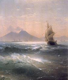 Italian Shipping off Vesuvius | Aivazovsky | Painting Reproduction
