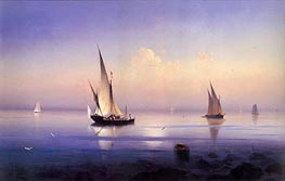 Calm Morning near Vico, 1841 by Aivazovsky | Painting Reproduction