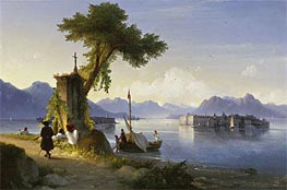 Isola Bella on Lake Maggiore | Aivazovsky | Painting Reproduction