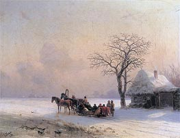 Winter Scene in Little-Russia | Aivazovsky | Painting Reproduction
