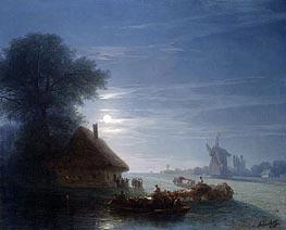 Ukrainian Landscape at Night, 1870 von Aivazovsky   Gemälde-Reproduktion