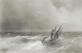 High Seas, 1874 by Aivazovsky | Painting Reproduction
