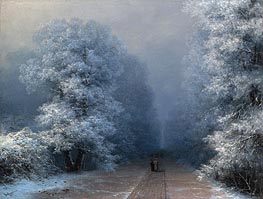 Winter Landscape | Aivazovsky | Painting Reproduction