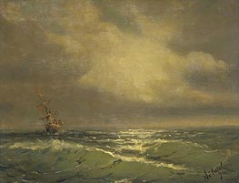 Sunlit Waves | Aivazovsky | Painting Reproduction