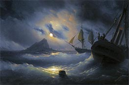 Gibraltar by Night | Aivazovsky | Painting Reproduction