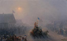 Distributing Supplies, 1892 by Aivazovsky   Painting Reproduction