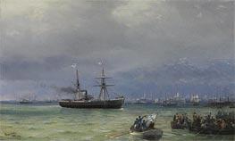 The Relief Ship: A Pair | Aivazovsky | Painting Reproduction