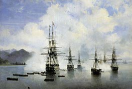 The Landing Raevsky in Subashi | Aivazovsky | Painting Reproduction
