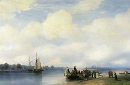 The Arrival of Peter I on Neva, 1853 von Aivazovsky | Gemälde-Reproduktion