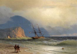 Shipping off the Ayu Dag, 1867 by Aivazovsky | Painting Reproduction