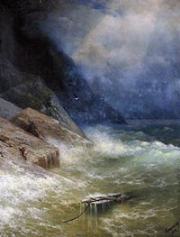 The Survivor , 1892 by Aivazovsky | Painting Reproduction