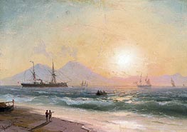 Watching Ships at Sunset, Undated by Aivazovsky | Painting Reproduction