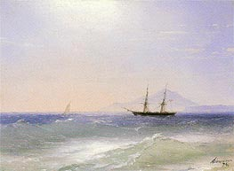 View of Ischia, 1874 by Aivazovsky | Painting Reproduction