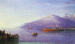 Leaving on a Steamship, 1876 by Aivazovsky | Painting Reproduction