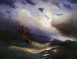 Storm, 1851 by Aivazovsky | Painting Reproduction