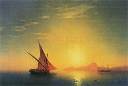 Swimmers at Dawn, undated by Aivazovsky | Painting Reproduction