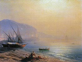 The Sea Shore, 1874 by Aivazovsky | Painting Reproduction