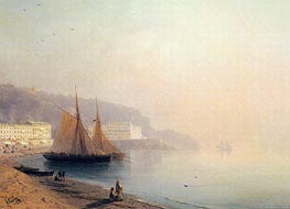 On the Beach at Sunset, 1878 by Aivazovsky | Painting Reproduction