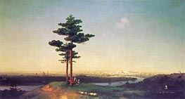 View of Moscow from the Sparrow Hills, 1851 by Aivazovsky | Painting Reproduction