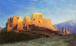 The Acropolis in Athens, undated by Aivazovsky | Painting Reproduction