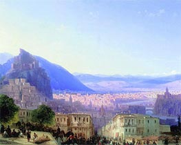 View of Tiflis, 1868 by Aivazovsky | Painting Reproduction