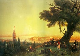 Constantinople, Galata and the Golden Horn, 1846 by Aivazovsky | Painting Reproduction