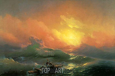 The Ninth Wave, 1850 | Aivazovsky | Painting Reproduction