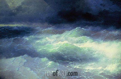 Among the Waves, 1898 | Aivazovsky | Painting Reproduction