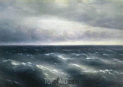 The Black Sea, 1881 | Aivazovsky | Painting Reproduction