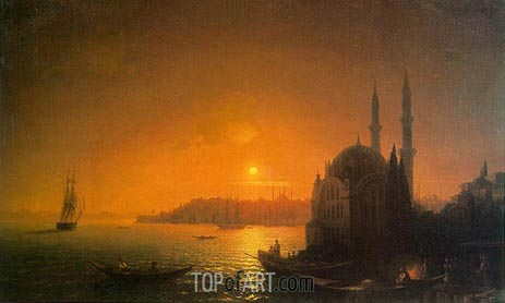 Aivazovsky | View of Constantinople by Moonlight, 1846