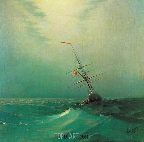 Aivazovsky | Night. A Blue Wave, 1876
