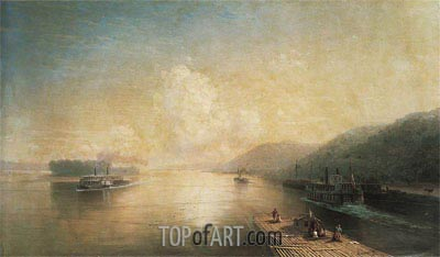 The Volga at Zhigulev Hills, 1887 | Aivazovsky | Painting Reproduction