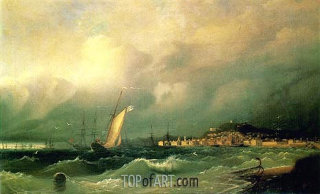 View of Theodosia, 1845 | Aivazovsky | Painting Reproduction