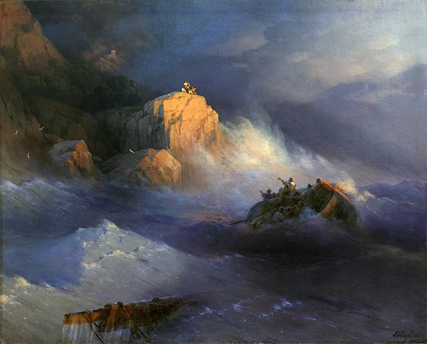 Shipwreck, 1876 | Aivazovsky| Painting Reproduction