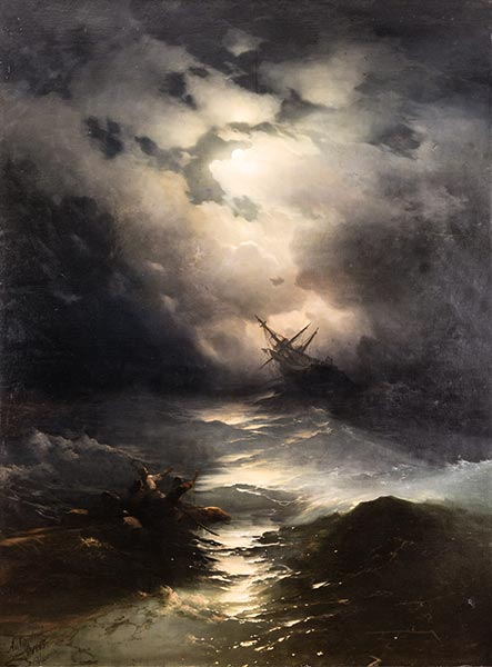 Storm in the North Sea, 1865 | Aivazovsky | Painting Reproduction