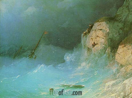 Aivazovsky | Shipwreck, 1864