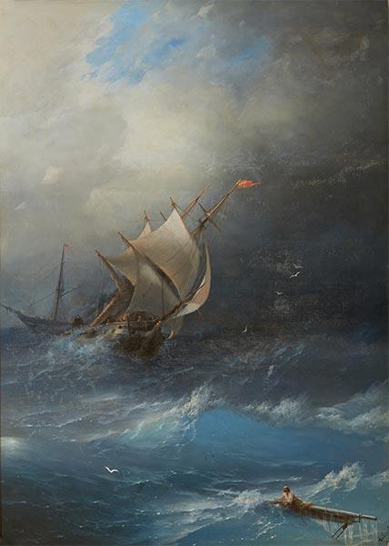 Aivazovsky | Storm in Arctic Ocean, 1864