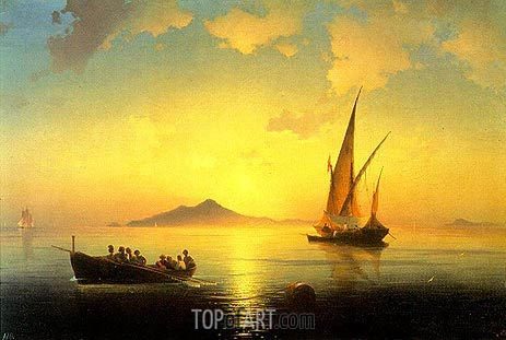 Aivazovsky | The Bay of Naples, 1841